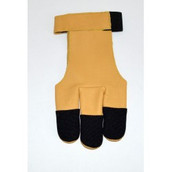 3 finger leather-nylon glove